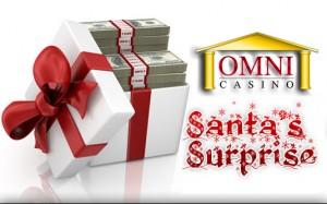Am 15. Dezember begann die Weihnachtsaktion Santa's Surprise im Omni Casino. Bis zum 24. Dezember werden täglich Geschenke an Spieler vergeben.