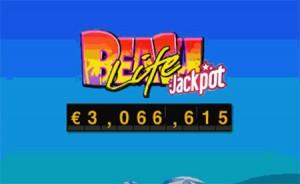 Über 3 Millionen mit progressiver Beach Life-Jackpot