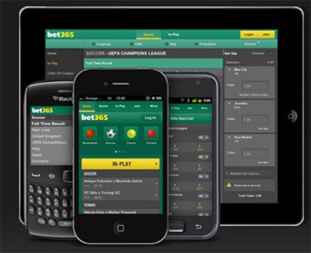 Bet365 verbesserte die Handy Plattform