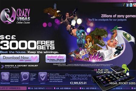 Freeroll Turniere im Crazy Vegas Online Casino