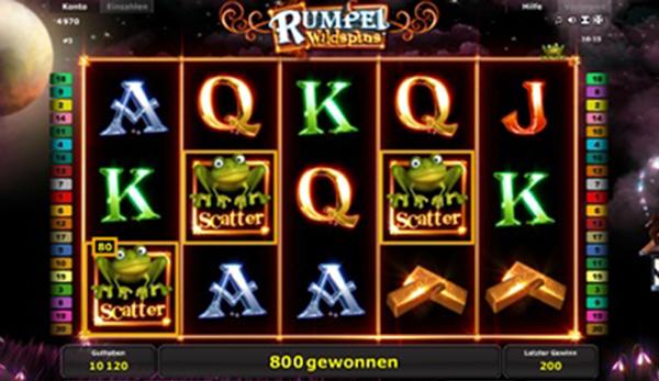 Novomatic Spielautomat Rumpel Wildspins bei StarGames