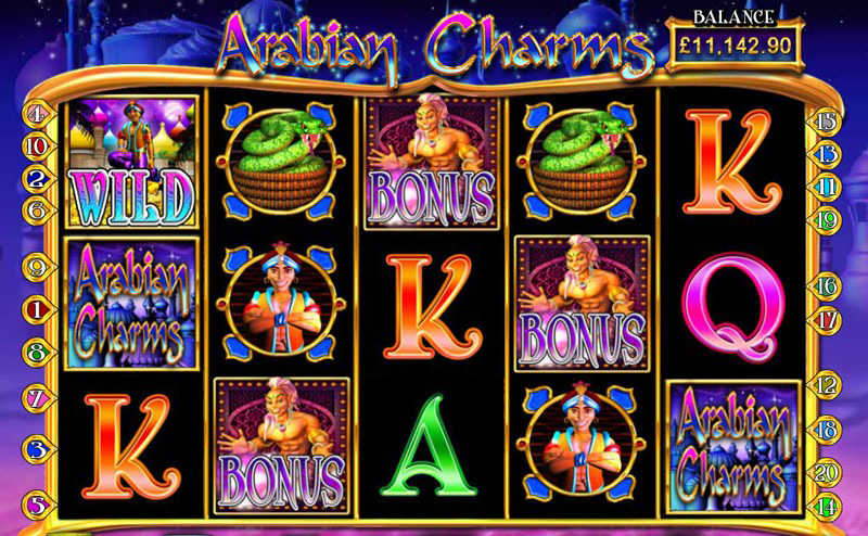 Online Spielautomat Arabian Charms bei Money Gaming
