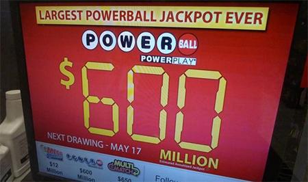 US Powerball mit Rekordbetrag von 590.000.000$ gewonnen