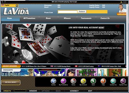 Urlaubsturnier im Online Casino La Vida
