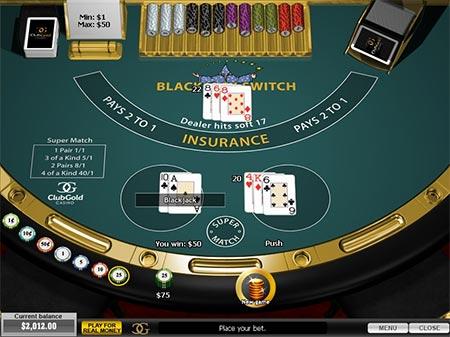 Wechseln im Playtech Spiel Blackjack Switch