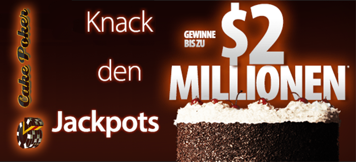 Zwei Millionen Dollar Jackpot bei Cake Poker